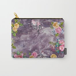 Birds and Flowers - Violet Melody Carry-All Pouch