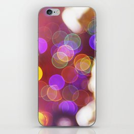 Bright and Blurred City Lights iPhone Skin