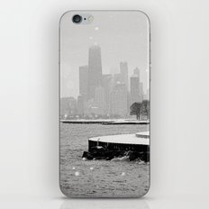 Snowy Chicago Skyline iPhone & iPod Skin