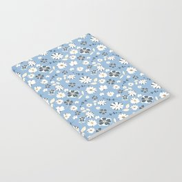 Baby Blue Floral Notebook