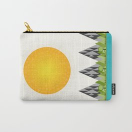 Happy Little Mountain Scene Carry-All Pouch