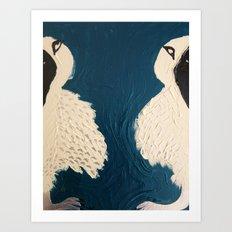 Split Birds Art Print