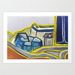 Brisbane Cityscape - Acrylic Painting Art Print