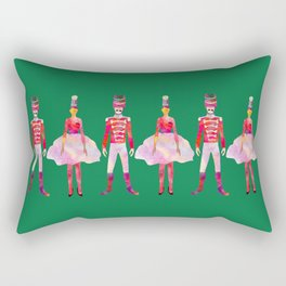 Nutcracker Ballet - Candy Cane Green Rectangular Pillow