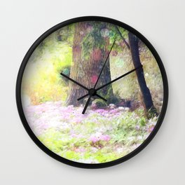 Where Fairies Dwell Wall Clock