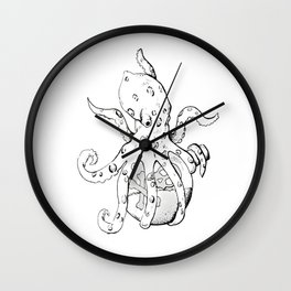 Blue Ringed Octopus , Original (inktober day one: Poisonous) Wall Clock