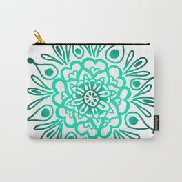 Turquoise Mandala Carry-All Pouch