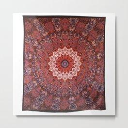 Indian Hippie Mandala cotton tapestry Metal Print