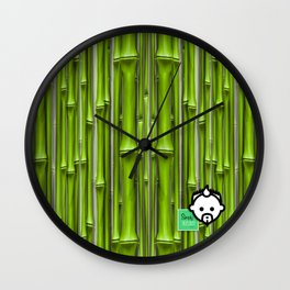 Bamboo Green HD by JC LOGAN 4 Simply Blessed Wall Clock