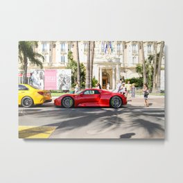 918 Spyder and C63 AMG from Dubai Metal Print