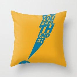 Do You Feel the Thunder? (Orange) Throw Pillow