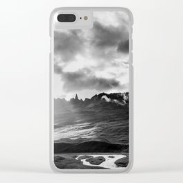 Iceland monochrome Clear iPhone Case