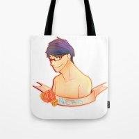 iwatobi Tote Bags featuring Rei Ryugazaki by Miyo Bell