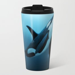 """The Dreamer"" by Amber Marine ~ Orca / Killer Whale Art, (Copyright 2015) Travel Mug"