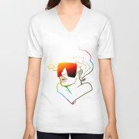 artpop V-neck T-shirts featuring ARTPOP by ARTBYSKINGS