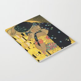 Curly version of The Kiss by Klimt Notebook