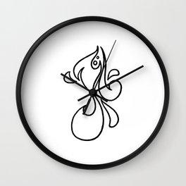 Michael / مايكل (lineart) Wall Clock