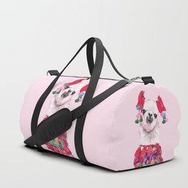 Llama in Colourful Costume Duffle Bag