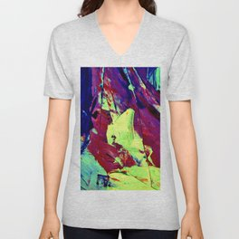 Red,Blue, Green, Yellow,Purple Abstract Painting Unisex V-Neck
