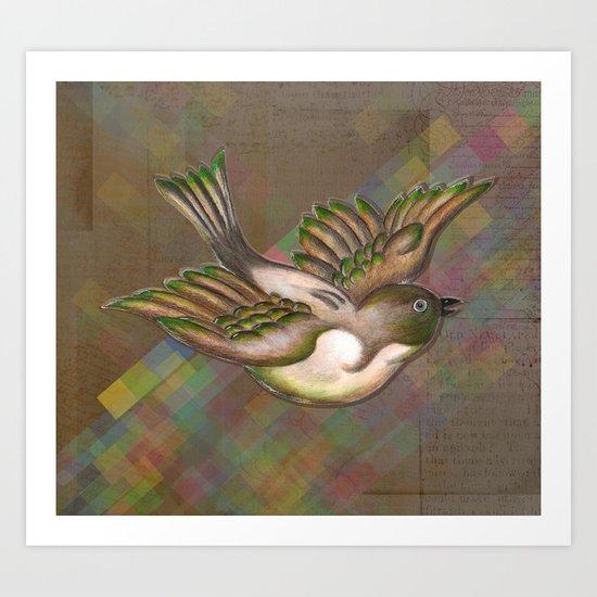 Flying Little Bird Art Print