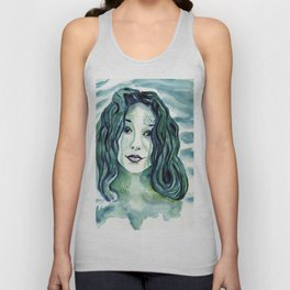 Maybe I'm A Mermaid (Tori Amos inspired art) Unisex Tank Top