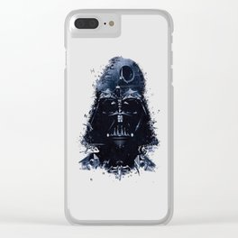 Darth Vader - Death Star - Tie Fighter - Starship Mashup Clear iPhone Case