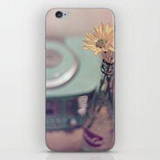 daisies with vintage radio iPhone & iPod Skin