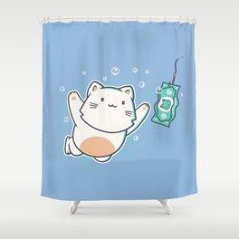 Nevermind Cat Shower Curtain