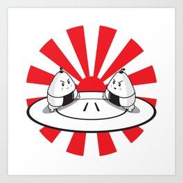 Rice Balls Sumo Onigiri Art Print