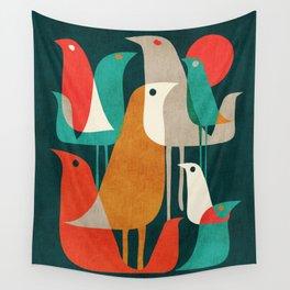 Flock of Birds Wall Tapestry