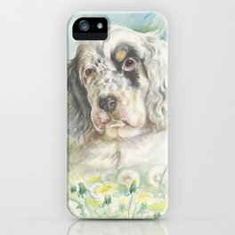 ENGLISH SETTER PUPPY iPhone Case