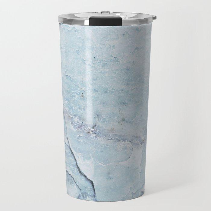 Light Blue Marble Travel Mug