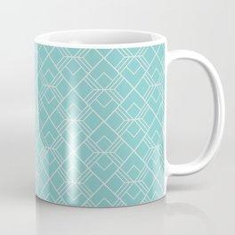 Aqua Sky Scandinavian Geometric Pattern Coffee Mug