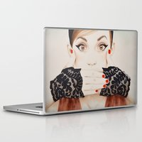 evil Laptop & iPad Skins featuring Speak No Evil by anna hammer