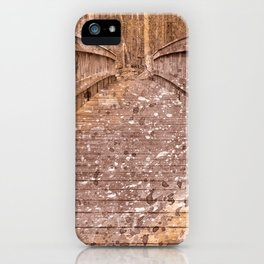 Acrylic Sepia Bridge iPhone Case