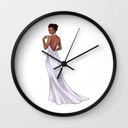 The White Dress Wall Clock