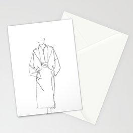 Fashion illustration line drawing - Marge Stationery Cards