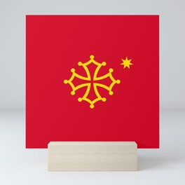 Flag of occitanie Mini Art Print