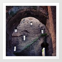 laputa Art Prints featuring From Roma to Laputa by Guillaume '96' Bonte