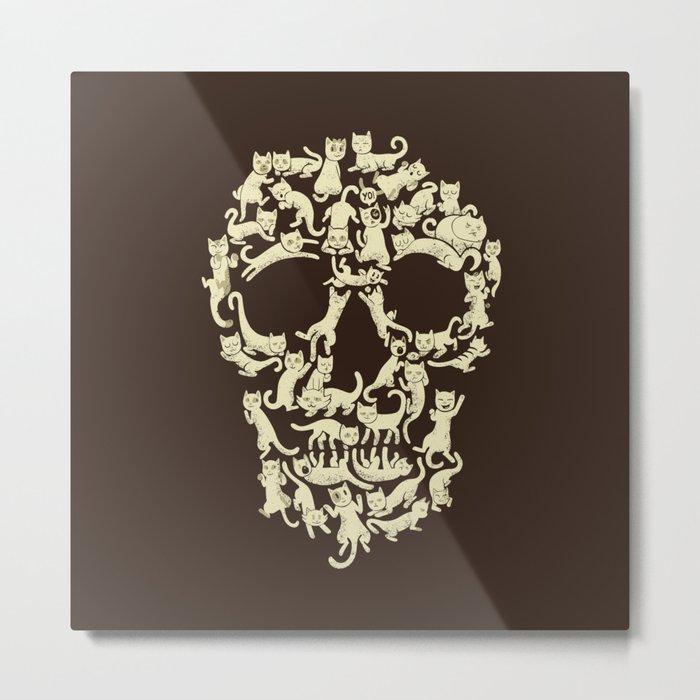 Catskull Metal Print