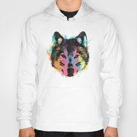 child Hoodies featuring Wolf Child by Zach Terrell