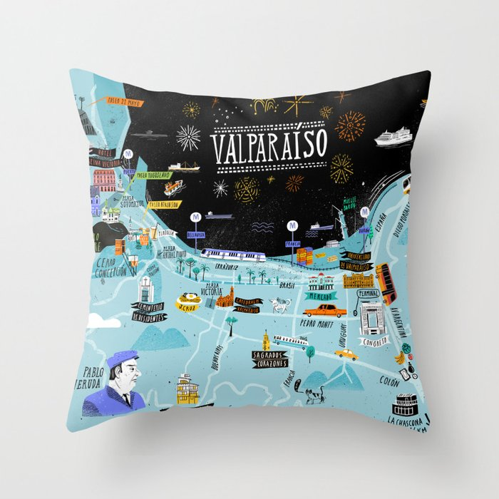 Valparaiso Throw Pillow
