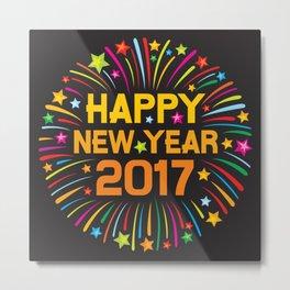 Happy new year 2017 firework Metal Print