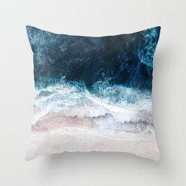 Blue Sea II Throw Pillow