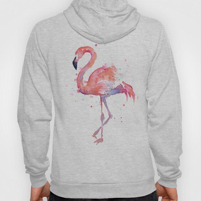 Flamingo Watercolor Hoody
