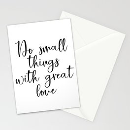 Do Small Things With Great Love PRINTABLE Wall Art, Minimalist Wall Decor, Farmhouse Wall Decor, Ins Stationery Cards