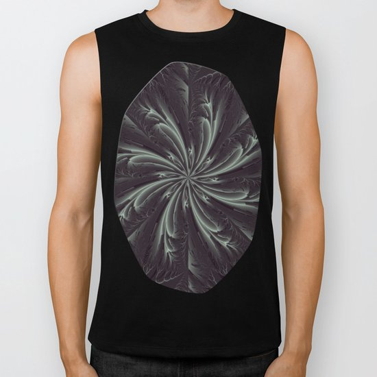 Out of the Darkness Fractal Bloom Biker Tank