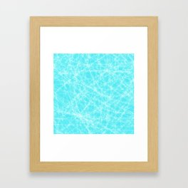 Robin Egg Blue Pattern Framed Art Print