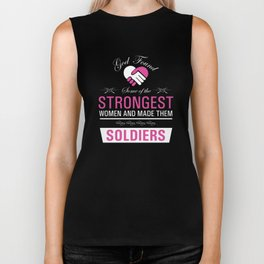 Strongest Women are Soldiers Uplifting T-shirt Biker Tank