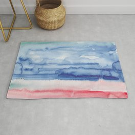 18    190907   Watercolor Abstract Painting Rug